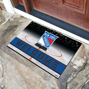 "New York Rangers Crumb Rubber Door Mat - 18""x30"""