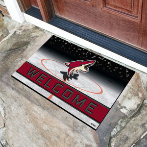 "Arizona Coyotes Crumb Rubber Door Mat - 18""x30"""