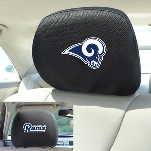 Los Angeles Rams Set of 2 Headrest Covers