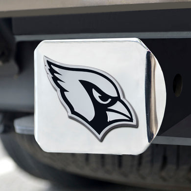Arizona Cardinals Chrome Emblem on Chrome Hitch Cover