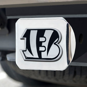 Cincinnati Bengals Chrome Emblem on Chrome Hitch Cover