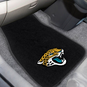 "Jacksonville Jaguars  2-Piece Embroidered Car Mat Set - 17""x25.5"""