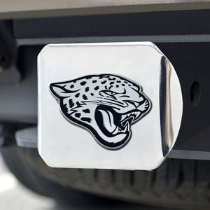 Jacksonville Jaguars Chrome Emblem on Chrome Hitch Cover