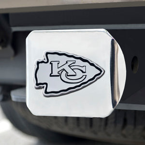 Kansas City Chiefs Chrome Emblem on Chrome Hitch Cover