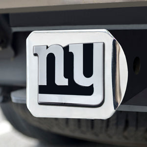 New York Giants Chrome Emblem on Chrome Hitch Cover