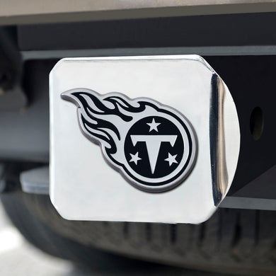 Tennessee Titans Chrome Emblem on Chrome Hitch Cover