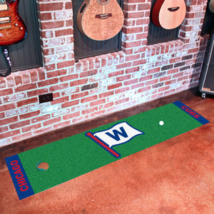 "Chicago Cubs ""W"" Putting Green Runner 18""x72"""