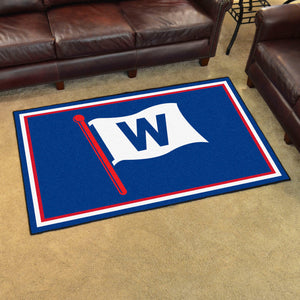 "Chicago Cubs ""W"" Plush Rug - 4'x6'"
