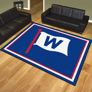 "Chicago Cubs ""W"" Plush Rug - 8'x10'"