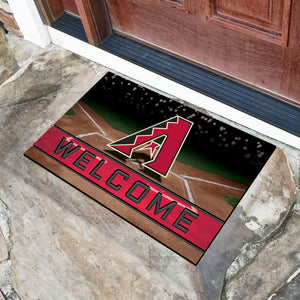 "Arizona Diamondbacks Crumb Rubber Door Mat - 18""x30"""
