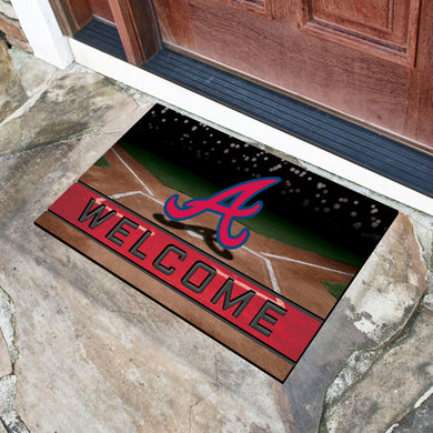 Atlanta Braves Crumb Rubber Door Mat - 18