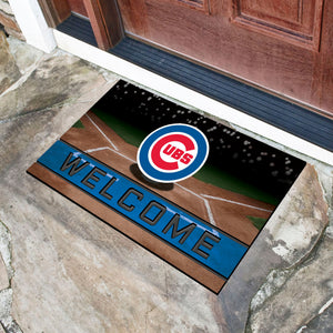 "Chicago Cubs Crumb Rubber Door Mat - 18""x30"""
