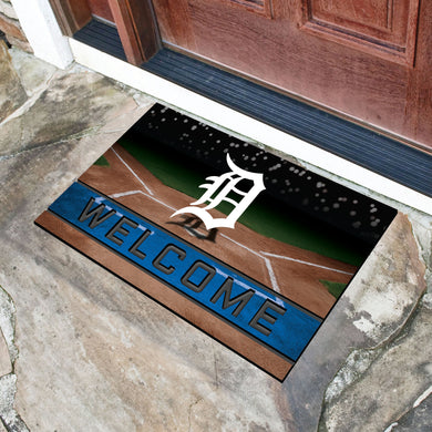Detroit Tigers Crumb Rubber Door Mat - 18