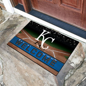 "Kansas City Royals Crumb Rubber Door Mat - 18""x30"""