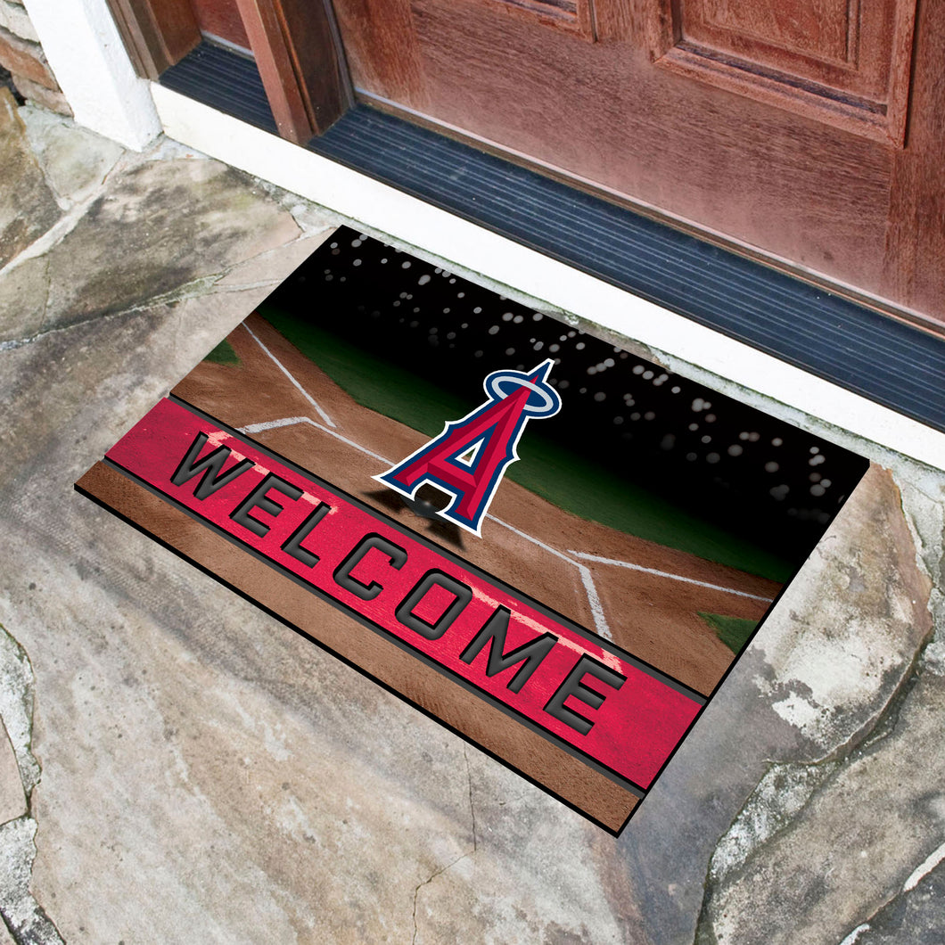 Los Angeles Angels Crumb Rubber Door Mat - 18