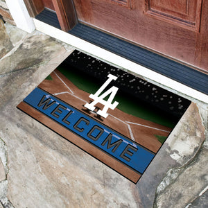 "Los Angeles Dodgers Crumb Rubber Door Mat - 18""x30"""