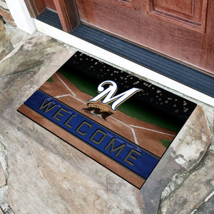 "Milwaukee Brewers Crumb Rubber Door Mat - 18""x30"""