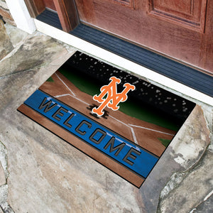"New York Mets Crumb Rubber Door Mat - 18""x30"""