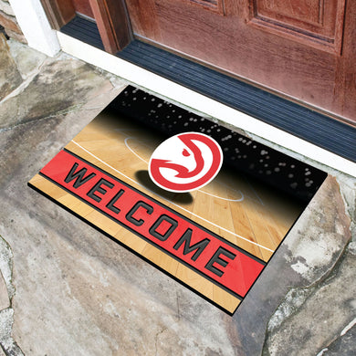 Atlanta Hawks Crumb Rubber Door Mat - 18