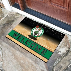 "Boston Celtics Crumb Rubber Door Mat - 18""x30"""