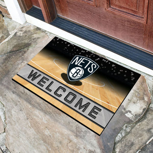 "Brooklyn Nets Crumb Rubber Door Mat - 18""x30"""