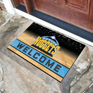 "Denver Nuggets Crumb Rubber Door Mat - 18""x30"""