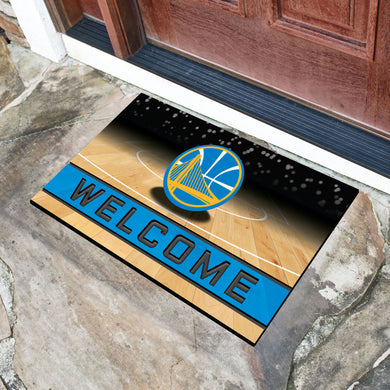 Golden State Warriors Crumb Rubber Door Mat - 18