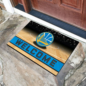 "Golden State Warriors Crumb Rubber Door Mat - 18""x30"""