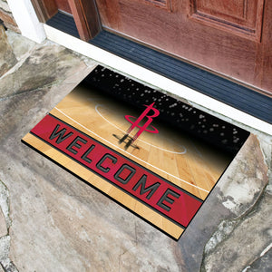 "Houston Rockets Crumb Rubber Door Mat - 18""x30"""
