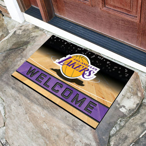 "Los Angeles Lakers Crumb Rubber Door Mat - 18""x30"""