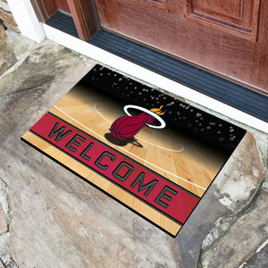 "Miami Heat Crumb Rubber Door Mat - 18""x30"""