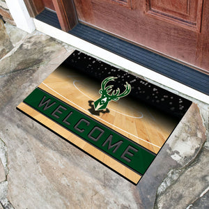 "Milwaukee Bucks Crumb Rubber Door Mat - 18""x30"""