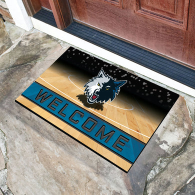 Minnesota Timberwolves Crumb Rubber Door Mat - 18