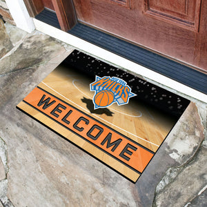 "New York Knicks Crumb Rubber Door Mat - 18""x30"""