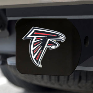 Atlanta Falcons Color Emblem On Black Hitch Cover