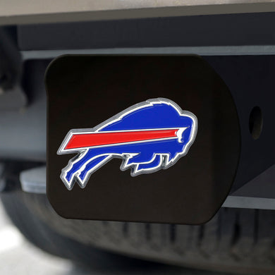Buffalo Bills Color Emblem On Black Hitch Cover