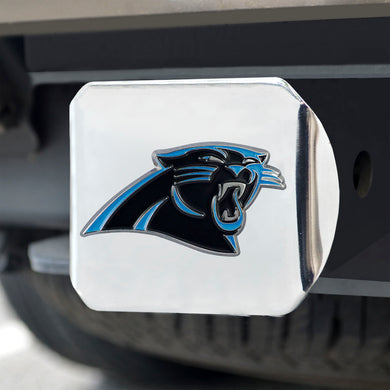 Carolina Panthers Color Chrome Hitch Cover