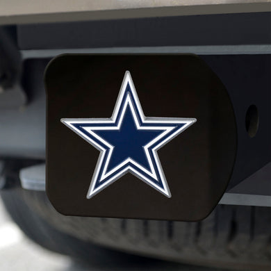 Dallas Cowboys Color Emblem On Black Hitch Cover