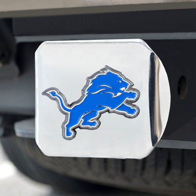 Detroit Lions Color Chrome Hitch Cover