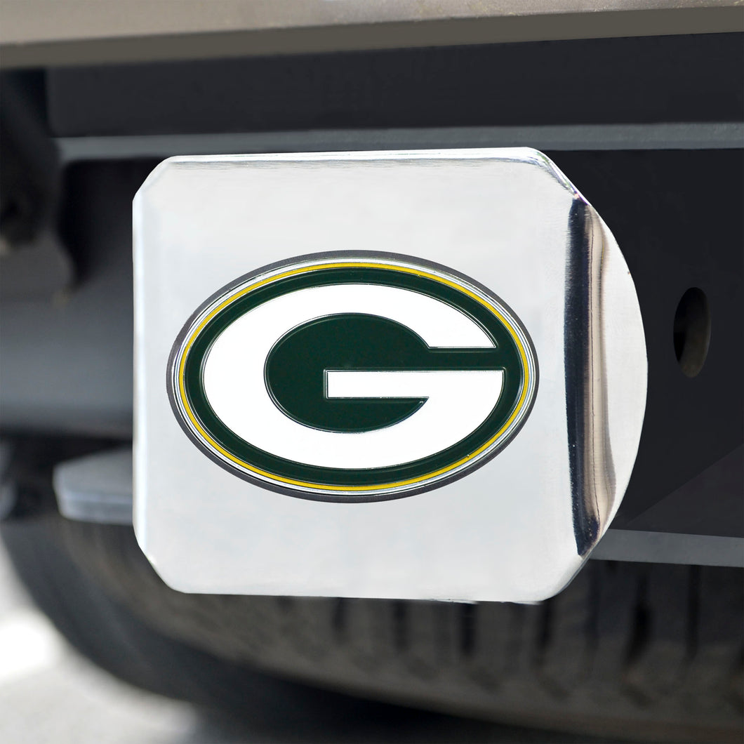Green Bay Packers Color Chrome Hitch Cover