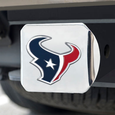 Houston Texans Color Chrome Hitch Cover