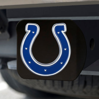 Indianapolis Colts Color Emblem On Black Hitch Cover