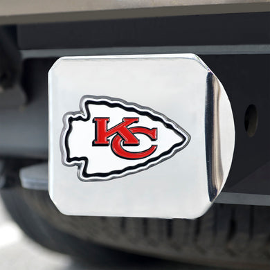 Kansas City Chiefs Color Chrome Hitch Cover