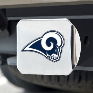 Los Angeles Rams Color Chrome Hitch Cover