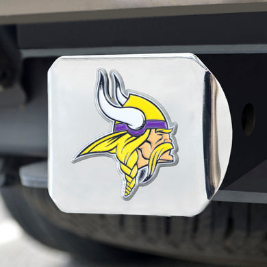 Minnesota Vikings Color Chrome Hitch Cover