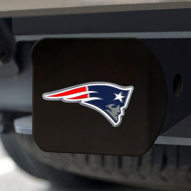 New England Patriots Color Emblem On Black Hitch Cover