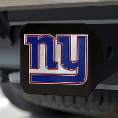 New York Giants Color Emblem On Black Hitch Cover