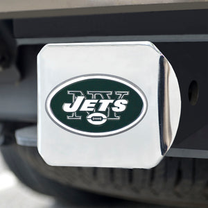 New York Jets Color Chrome Hitch Cover