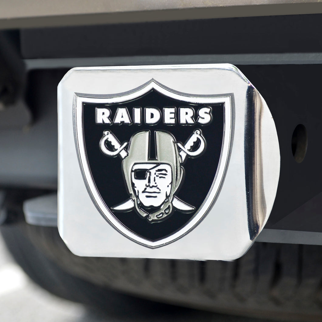 Oakland Raiders Color Chrome Hitch Cover