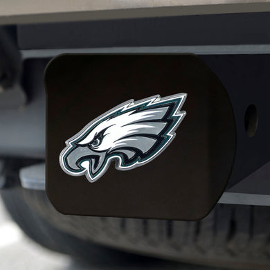 Philadelphia Eagles Color Emblem On Black Hitch Cover